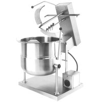 Cleveland MKET-12-T 12 Gallon Tilting 2/3 Steam Jacketed Electric Tabletop Mixer Kettle - 208/240V