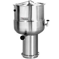 Cleveland KDP-100 100 Gallon Stationary 2/3 Steam Jacketed Pedestal-Mounted Direct Steam Kettle