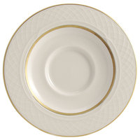 Homer Laughlin 1420-0355 Westminster Gothic Off White 5 5/8 inch China Saucer - 36/Case