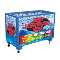 Blue Extra Large Ice Saver 065 Mobile 140 qt. Frost Box with Casters