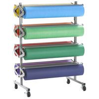 Bulman R370 36 inch Horizontal Tower 8 Roll Standard Paper Rack - Assembled