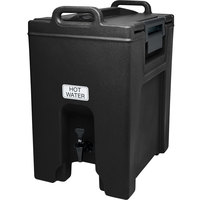 Cambro UC1000110 Ultra Camtainer 10.5 Gallon Black Insulated Beverage Dispenser