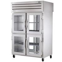 True STG2RPT-4HG-2G-HC Specification Series 52 5/8 inch Half Glass Front, Full Glass Back Door Pass-Through Refrigerator