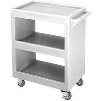 Cambro BC230180 Light Gray Three Shelf Service Cart - 33 1/4 inch x 20 inch x 34 5/8 inch