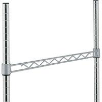 Metro H124-DSH Silver Hammertone Hanger Rail 24 inch
