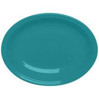 Homer Laughlin 458107 Fiesta Turquoise 13 5/8 inch Platter - 12 / Case