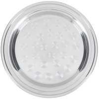 18 inch Stainless Steel Serving / Display Tray with Swirl Pattern - Wide Rim