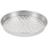 American Metalcraft HA5012P 12 inch x 2 inch Perforated Heavy Weight Aluminum Straight Sided Pizza Pan