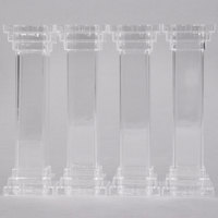 Wilton 303-802 6 inch Fillable Cake Pillars - 4/Pack