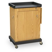 Oklahoma Sound SCLOK Smart Cart Lectern - Light Oak Finish
