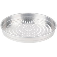 American Metalcraft SPHA5114 5100 Series 14 inch Super Perforated Heavy Weight Aluminum Straight Sided Self-Stacking Pizza Pan