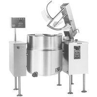 Cleveland MKEL-80-T 80 Gallon Tilting 2/3 Steam Jacketed Electric Mixer Kettle - 208/240V