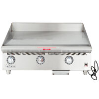 Star 836TSA Ultra Max 36 inch Countertop Gas Griddle with Snap Action Controls and Direct Spark Ignition - 120,000 BTU