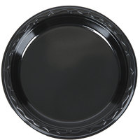 Genpak BLK06 Silhouette 6 inch Black Heavy Weight Plastic Plate - 125/Pack
