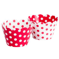 Hoffmaster 611130 Red / White Reversible Cupcake Wrappers - 250/Case