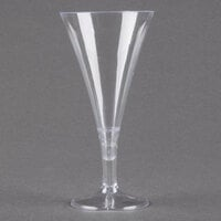 Fineline Tiny Temptations 6414-CL 2 oz. Tiny Barware Clear Plastic 2-Piece Champagne Flute - 120 / Case
