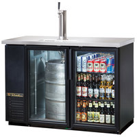 True TDB-24-48G 49 inch Back Bar Direct Draw Beer Dispenser with Two Glass Doors