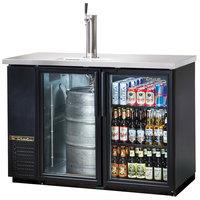 True TDB-24-48G 49 inch Back Bar Direct Draw Kegerator Beer Dispenser with Two Glass Doors