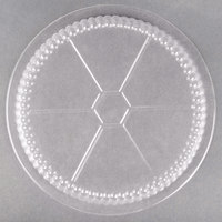 Choice 8 inch Plastic Dome Lid   - 500/Case