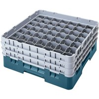 Cambro 49S434414 Teal Camrack 49 Compartment 5 1/4 inch Glass Rack