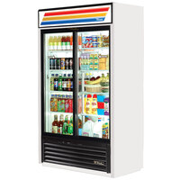 True GDM-41SL-LD White Slim Line Refrigerated Sliding Glass Door Merchandiser - 33 Cu. Ft.
