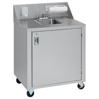 Crown Verity CVPHS-2 Double Bowl Portable Hand Sink Cart