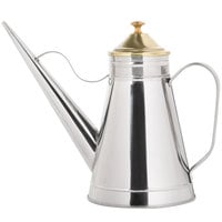 24 oz. Oil Can / Cruet with Brass Knob and Cover