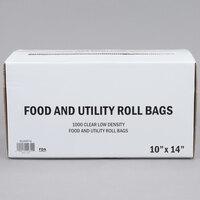10 inch x 14 inch Plastic Food Bag On A Roll   - 1000/Case