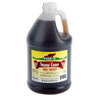 Fox's 1 Gallon Vanilla Snow Cone Syrup - 4/Case