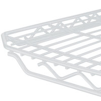 Metro 1436QW qwikSLOT White Wire Shelf - 14 inch x 36 inch