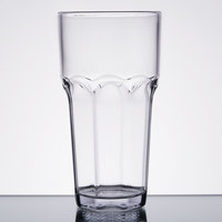 Carlisle 581807 Louis 18 oz. Clear Plastic Tumbler - 24/Case
