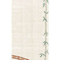 8 1/2 inch x 11 inch Menu Paper Asian Themed Bamboo Design Right Insert - 100/Pack