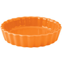 Hall China 30863325 Tangerine 5 oz. Colorations Round Fluted Souffle / Creme Brulee Dish - 24/Case