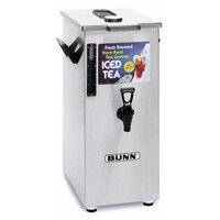 Bunn TD4T Tall 4 Gallon Iced Tea Dispenser with Brew-Through Lid - Square (Bunn 03250.0005)