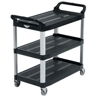 Vollrath 97006 Black Multi-Purpose Utility Cart with Three Shelves