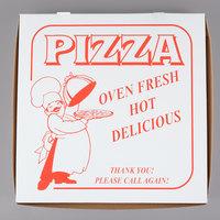 14 inch x 14 inch x 2 inch Clay Coated Pizza Box - 100/Bundle