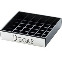 Cal-Mil 632-2 4 inch Engraved Silver Decaf Drip Tray