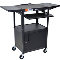 Luxor AVJ42KBCDL Computer Cart with Locking Cabinet and Keyboard Shelf