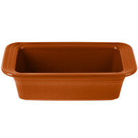 Homer Laughlin 813334 Fiesta Paprika 5 3/4 inch x 10 3/4 inch x 3 inch Loaf Pan - 3/Case