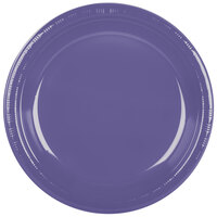 Creative Converting 28115031 10 inch Purple Plastic Banquet Plate - 240 / Case