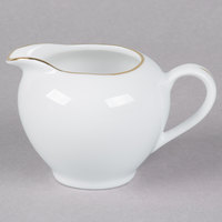 10 Strawberry Street GL0016 8 oz. Gold Line Creamer   - 6/Case