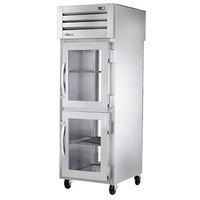 True STG1RPT-2HG-1G-HC Specification Series 27 1/2 inch Half Glass Front, Full Glass Back Door Pass-Through Refrigerator