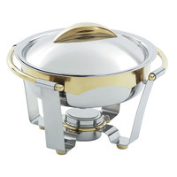 Vollrath 48324 6 qt. Panacea Large Round Chafer with Gold Accents