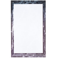 8 1/2 inch x 14 inch Black Menu Paper - Marble Border - 100/Pack