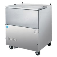 Beverage Air SM34N-S Stainless Steel Milk Cooler 1 Sided - 34 1/2 inch