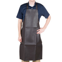 Brown Vinyl Dishwashing Apron