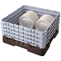 Cambro CRP2878167 Brown Full Size PlateSafe Camrack 7-8 5/8 inch