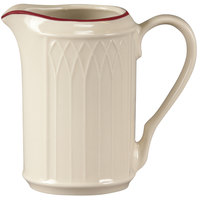 Homer Laughlin 1492-0042 Gothic Red Jade 7.75 oz. Off White Creamer - 36 / Case