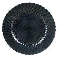 WNA Comet Classicware EcoSense 9 inch Biodegradable Black Plastic Plate - 180 / Case