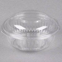 Dart Solo C12HBD PresentaBowls 12 oz. Clear Hinged Plastic Bowl with Dome Lid   - 300/Case